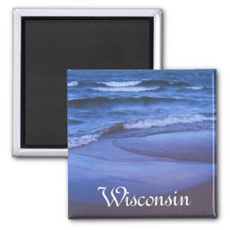 Tidepool, Wisconsin 2 Inch Square Magnet