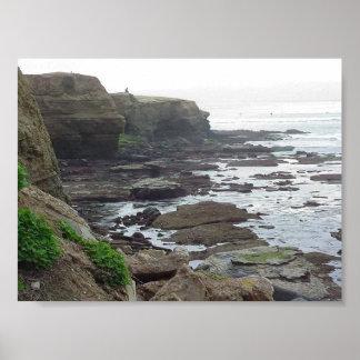 Tidepools Ocean Cliffs Poster