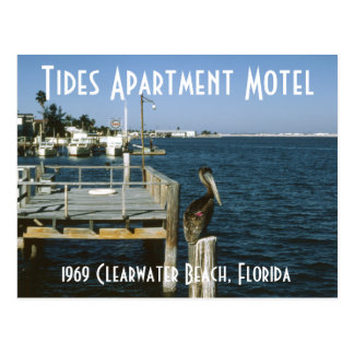 Tides Apartment Motel Clearwater Florida Postcard