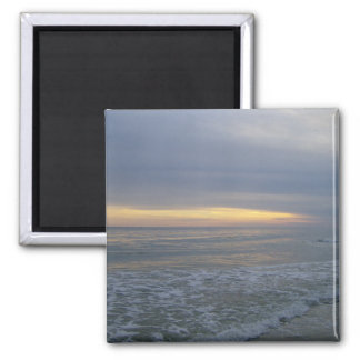 Tides Gushing Along Shorelines 2 Inch Square Magnet