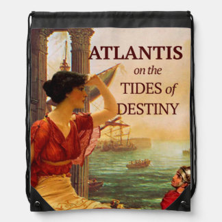 Tides of Destiny Drawstring Back Pack Drawstring Backpack