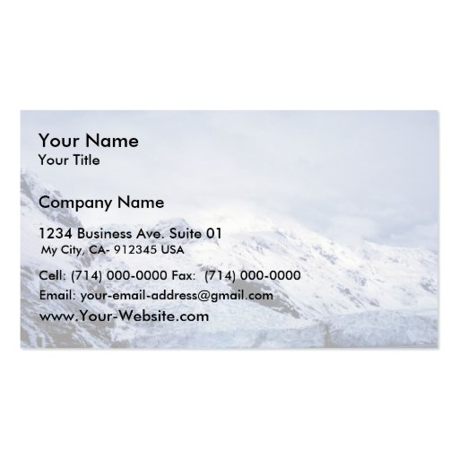 Tidewater Glacier in Prince William Sound Business Card Template