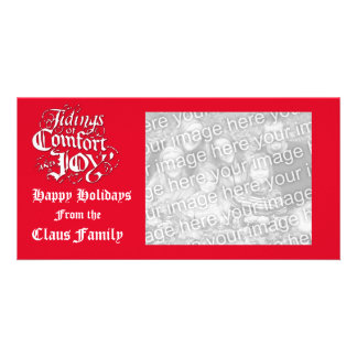 Tidings of Comfort & Joy Holiday Mini Photo Cards