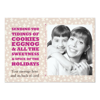 Tidings of Cookies and Eggnog Holiday Photocard Card