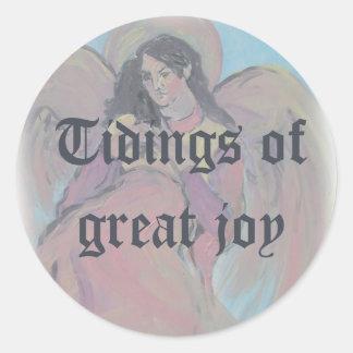 Tidings of Great Joy Angel Sticker