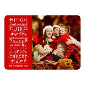 Tidings of Great Joy Christmas Blessings Photocard Card