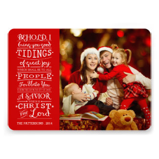 Tidings of Great Joy Christmas Blessings Photocard Announcement