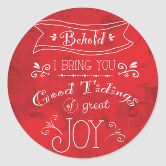 Tidings of Joy by Jan Marvin Classic Round Sticker