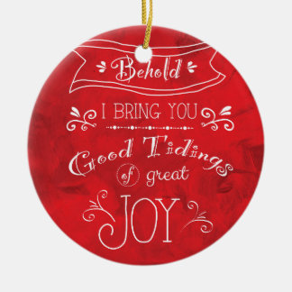 Tidings of Joy by Jan Marvin Double-Sided Ceramic Round Christmas Ornament