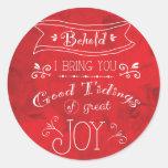 Tidings of Joy by Jan Marvin Round Sticker