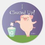 Tidy Piggy Reward Stickers