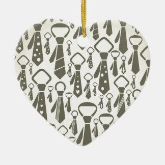 Tie a background ceramic ornament