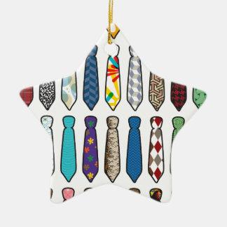 Tie a day black stroke.png ceramic ornament