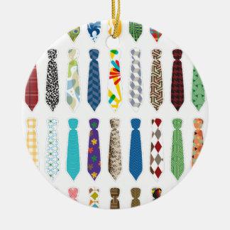 Tie a day white stroke.png ceramic ornament