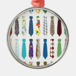 Tie a day white stroke.png metal ornament
