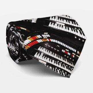 Tie, Antique Organ Keyboard, Pattern Repeats Tie