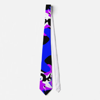 Tie Art Abstract Blue Sunset Lilac Purple 2