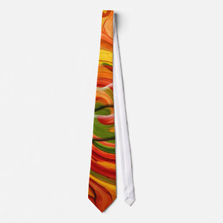 Tie- AUTUMN COLORFUL ABSTRACT DESIGN Neck Tie