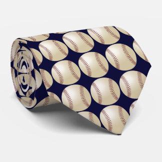 Tie, Baseball, Dark Blue Background Neck Tie