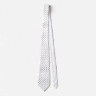 Tie Black & White Style Dotty