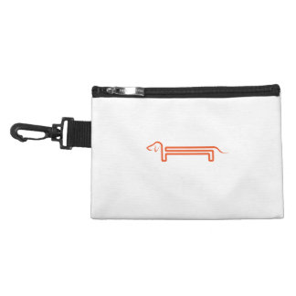Tie-clip on cultural bag with dachshund