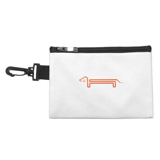 Tie-clip on cultural bag with dachshund accessory bags