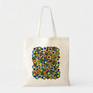 tie_die marbles 60's style Psychedelic Tote Bag
