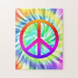 Tie Die Peace Sign Design Puzzle