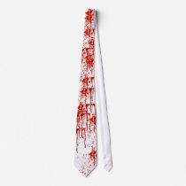 Tie Died Blood Spattered Red Blood Type Slaughter