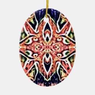 Tie Digital Ceramic Ornament