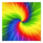 Tie Dye 5.25x5.25 Square Paper Invitation Card
