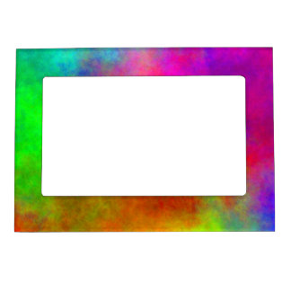 Tie-Dye Abstract Magnetic Picture Frame