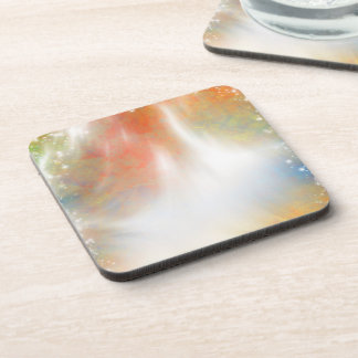 Tie Dye Abstract Pastels Sunlight Sparkles Coaster
