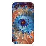 Tie Dye Abstract Swirls - Digital Art iPhone 4/4S Covers