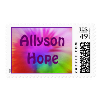 Tie-Dye, AllysonHope Postage Stamps