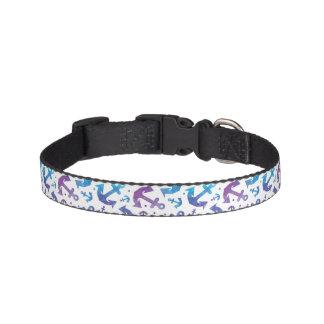 Tie Dye Anchor Pattern 2 Pet Collar