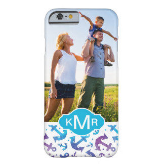 Tie Dye Anchor Pattern | Your Photo & Monogram Barely There iPhone 6 Case