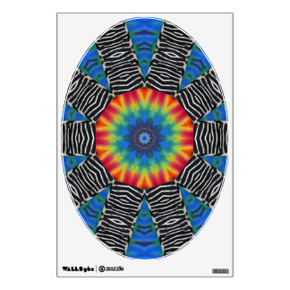Tie Dye and Black and White - Art for Your Toilet Wall Stickers