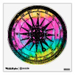 Tie dye Black Stamp Compass Wall Stickers