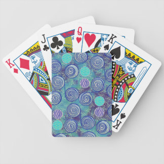 Tie Dye Blue African Wax Pattern Bicycle Playing Cards