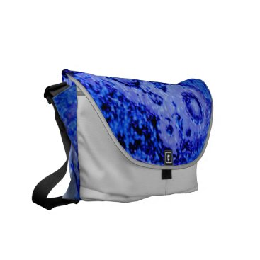 Professional Business Tie Dye Blue Messenger Bag by Janz