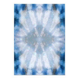 Tie Dye Blue White Radial Rays Spot Pattern Card