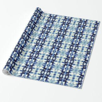 Tie Dye Blue Wrapping Paper