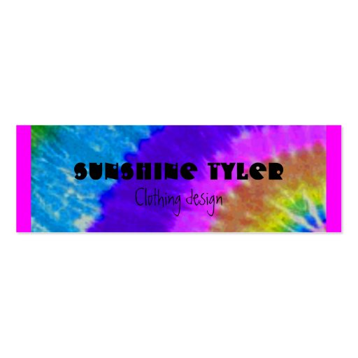 tie-dye Double-Sided mini business cards (Pack of 20)