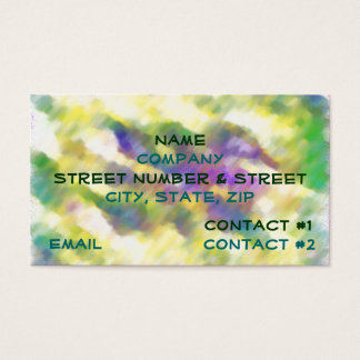 Tie Dye Business Card