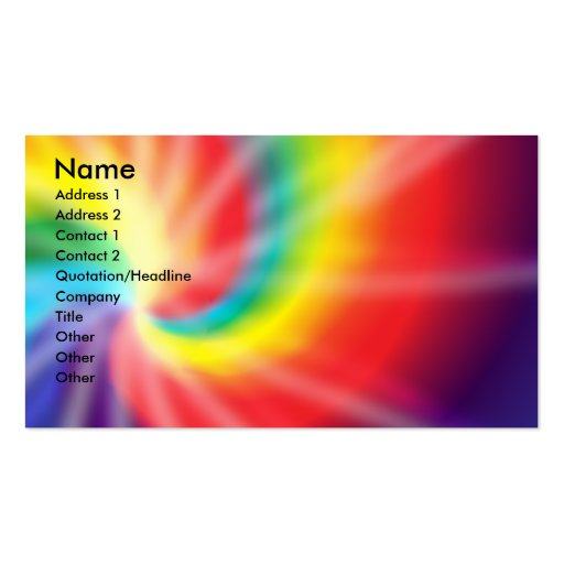 Tie dye business card templates