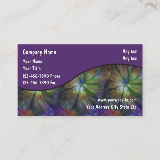 Tie Dye Business Cards Zazzle