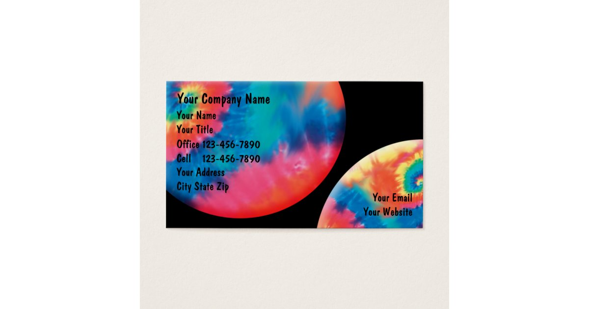 Tie Dye Business Cards | Arts - Arts