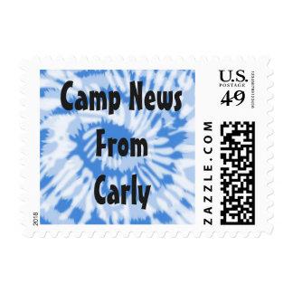 Tie Dye Camp Stamp customizable