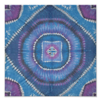 Tie Dye Circles and Squares Print